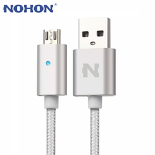 NOHON Smart LED Light Auto Power Off Micro USB Charge Data Sync Cable For Samsung S6 S7 LG G3 Android Phone Charging Cable 1.5m