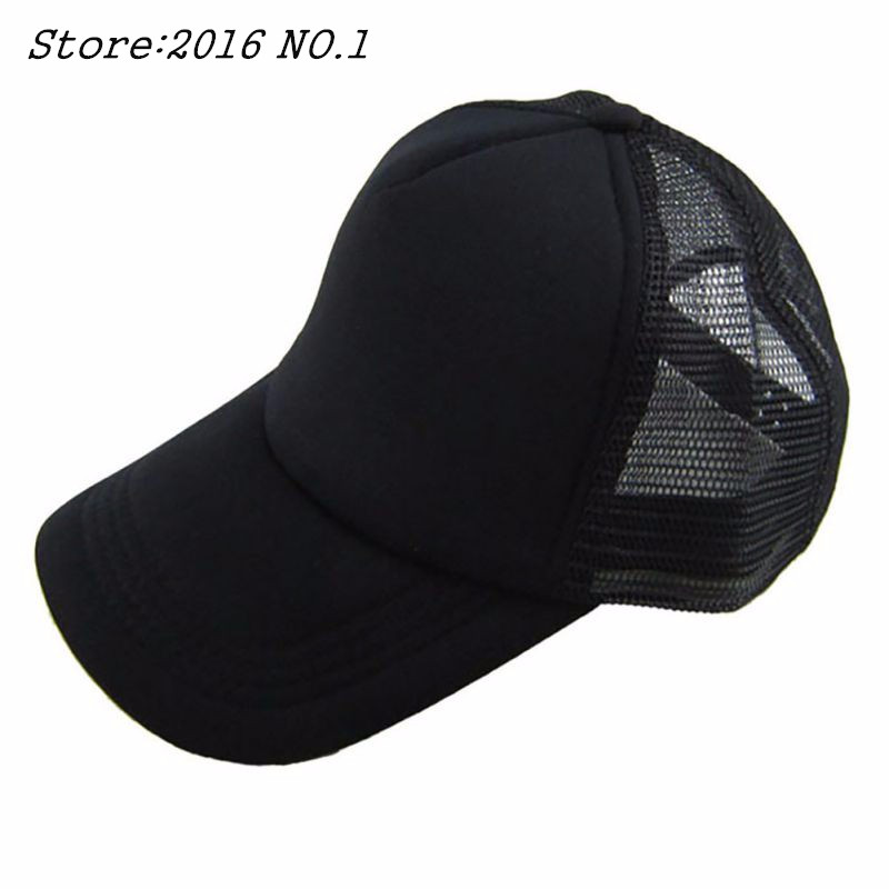 Cozy Unisex Attractive Casual Men Women Summer Hat Solid Baseball Cap Trucker Mesh Blank Visor Hats Adjustable<br><br>Aliexpress