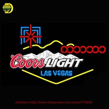 2017 New Neon Sign Coors Light Las Vegas Beer Bar Pub Glass Tube Neon Signs Handcrafted Recreation Room Wall Iconic Sign 37x24