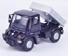 Candice guo! alloy toy model toy Welly Unimog U400 truck plastic motor pickup creative collection birthday gift 1pc