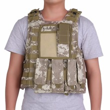 (Ship From US) Amphibious Tactical Military Hunting Combat Assault Plate Carrier Adjustable Vest Top Outdoor Jungle Vest(China)