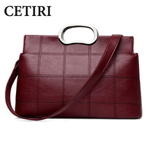 CETIRI Handbag Bao Bao Fashion Handbags 2017 Girls Shoulder Bag Designer Inspired Handbag Bags Female Messenger Bags Red Plaid(China)
