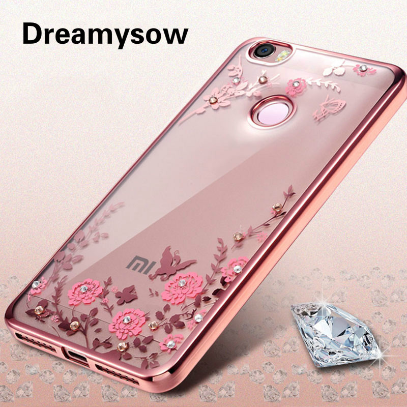 Case Xiaomi Mi 5S Plus 5 4 4S Mi5S Mi5 MI4 MI4I MI4C Redmi Note 4 3 2 Pro 3S 3X 5 5Plus Luxury Flowers Diamond Soft Tpu Case