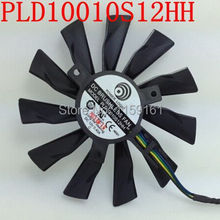 Free shipping 2pcs/lot PLD10010S12HH 95mm Video Card Fan Repair Parts for MSI GTX770 R9-280X R9-270X R9-260X 4Pin cooling fan(China)