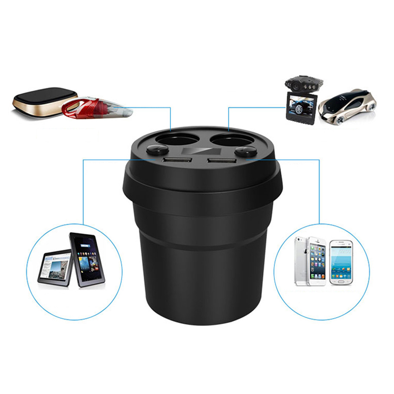 Kris 3.1A/80W Dual USB Charger Car Adapter With 2 Socket Splitter Cigarette Lighter<br><br>Aliexpress