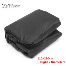 KiWarm 110x230cm Round Outdoor Garden Patio Furniture Cover Waterproof Rain Dust Protective Cover Cloth For 6 Seater Table Set