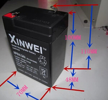 Free shipping 6V 4.5AH lead acid battery rechargeable battery Children's electric car battery
