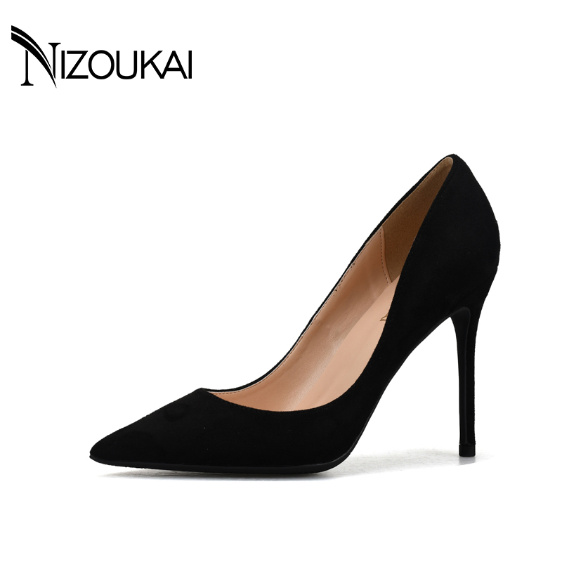 Plus size 43 44 Women Pumps 2017 Sexy High Heels Pointed Toe Party Shoes Woman Wedding Office Pumps Red Green Zapato Mujer d01-r<br>