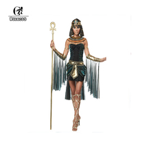 ROLECOS 2016 Women Halloween Clothes Sleeveless Arab Queen of Egypt Cleopatra Cosplay Costume Sexy Women Fancy Dress Clothes