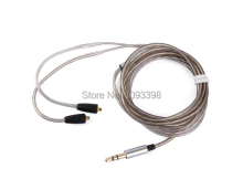 Upgrade silver Audio Cable Wire For Westone AC10 AC20 MUSICIAN MONITORS ADVENTURE SERIES ALPHA SKELETON SERIES S10 S20 earphone