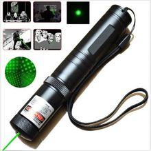 Green Laser pointer 303 500mw High power Lazer SD Laser 303 presenter laser pointer + Safe Key + battery+charger(China)