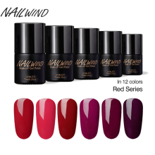 NAILWIND Fashion Goddess Red Series Semi-permanent Polish Nail Gel Paint Color 2601-2612 For UV LED Lamp Insulation