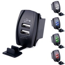 Universal Car Motorcycle Waterproof 2 Port Dual USB Charger For iPhone Samsung 3.1A Mini Auto Charger Adapter Car-Charger