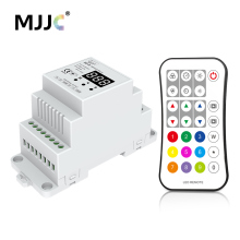 DMX 512 Controller RGBW Din Rail 4CH 5CH DMX512 Master Control Wireless RF LED Strip Light Remote Controller XC-D(China)