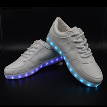 New 7 Colors  Glowing Leisure Flat Shoes LED Luminous Shoes Fashion Unisex Casual Shoes for Valentine USB Recharge Light Shoes