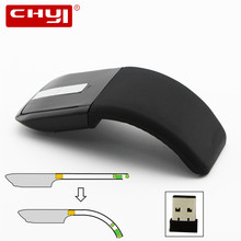 New 2.4Ghz USB Wireless Optical ARC Touch Scroll Mouse Slim Foldable Flat Touch Mouse Mause with USB Receiver Computer Mice(China)