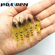 5 Pcs/Lot 1gram 4cm Soft Silicone Wobbler Jigging DIY fishing tackle Fish Lure Fishing Lure Bait Artificial shrimp FA-247