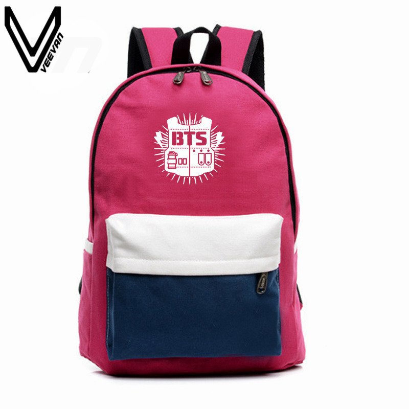 2017 BTS Backpacks EXO Bags B2ST GOT7 B1A4 B.A.P CNBLUE Canvas Should Bag Super Junior Backpack School Bags For Teenagers Fans<br><br>Aliexpress