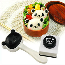2016 New Hot Rice Ball Molds DIY Cartoon Panda Shape Sushi Maker Mould  Seaweed Cutter Rice Ball Kitchen Mold Tools