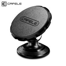 Cafele Car Phone Holder Magnet Leather Surface Car Holder for iPhone Samsung Xiaomi Leather+Metal Body Phone Car Holder(China)