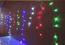NEW 20M x 0.75M 600 LEDs Holiday Christmas Garden Curtain Icicle String Led Lights Decoration 8 Flash Modes 110V - 240V(China)
