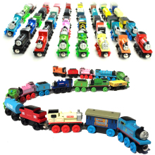 10pcs/lot Thomas and His Friends Kids Wooden Toy Cartoon Magnetic Trains Model Great Kids Christmas Toys Gifts for Children