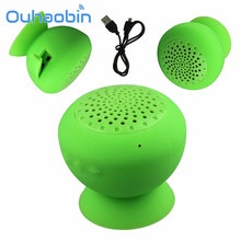 Ouhaobin MiniBoom mini Mushroom Suction Bluetooth Speaker Wireless Speaker Hands Free Silicone Material Great Sound(China)