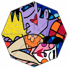 Custom Foldable Romero Britto Graffiti Art Umbrella Windproof Travel Umbrella