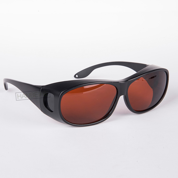 HANBEIHE LSG-1 Laser protective goggles for 190-540nm and 800-1700nm O.D 5+ CE  with style 9<br>