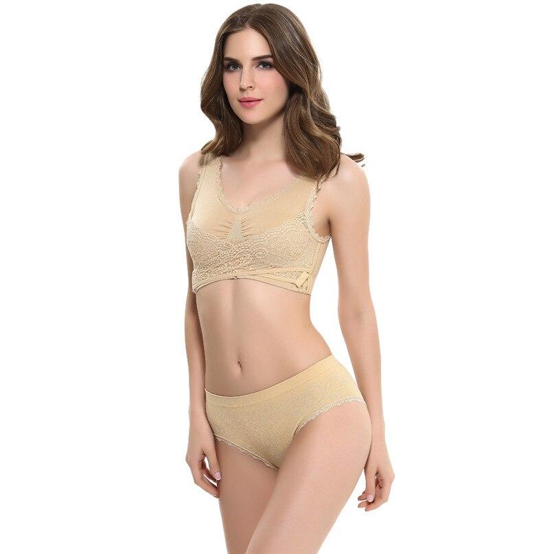 Women Sports Bra Sports Underwear Fitness Yoga Running Pad Cropped Top Sports Wear Tank Tops Anti-Sweat Lace Bra #3j#F (1)