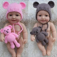 Puseky 0-6M Newborn Baby Bear Hat Photography Props Knit Crochet Beanie Photography Accessories 2017 Fashion