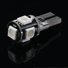 T10 5smd 5050 LED car led Light Canbus W5W 194 5050 SMD 5 led Error Free White Light Bulbs Wholesale