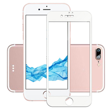 Anti-scratch Silk Printing Tempered Glass Screen 4D Full Cover Screen Protector Film For iPhone 7 plus  (WITHOUT BACK CASE)