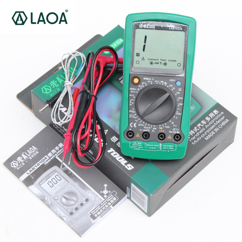 LAOA professional Multimeter auto repair digital multimeter overload protect car test LA814104  <br>