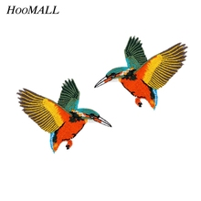 Hoomall 1Pair Bird Patches For Clothing Iron On Motif Sticker Sewing Patches Melt Adhesive Applique Hats Jeans Accessories