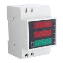 AC 110V 220V DIN RAIL 100A KWH energy power electricity meter Ammeter Voltmeter Top Quality