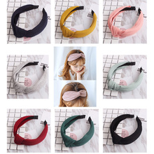 Buy Top Knot Turban Headband Cotton Hairband Girls Vintage Knitting Twisted Head Band Women Head Hoop Elastic Hair Accessories for $1.63 in AliExpress store