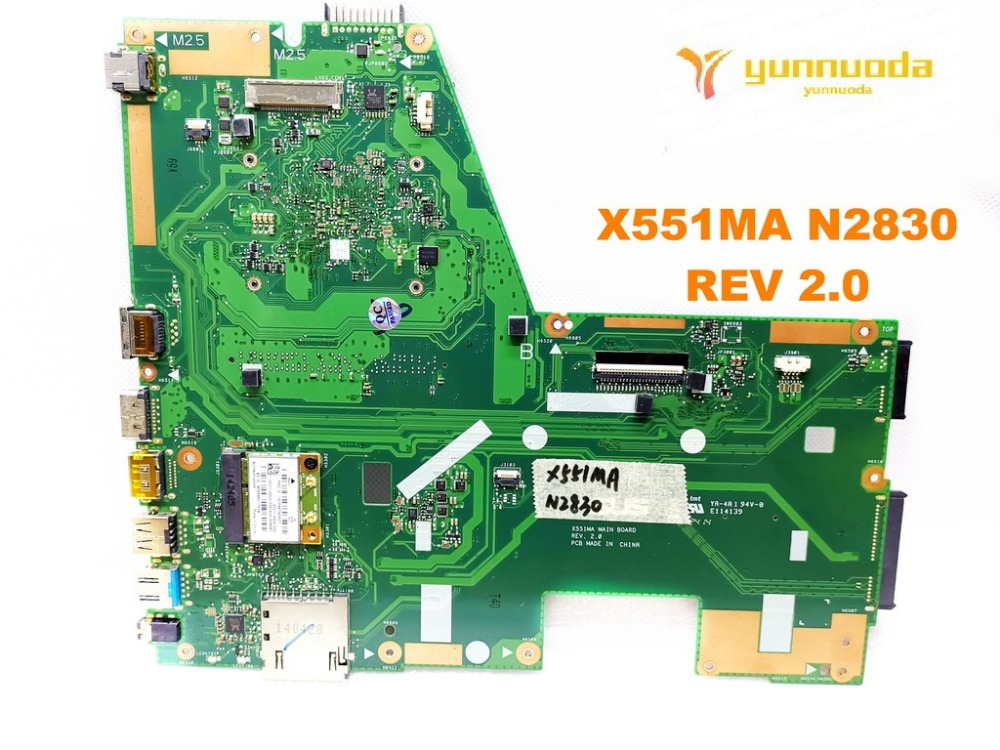 Original for ASUS X551MA  laptop motherboard X551MA N2830  REV 2.0  tested good free shipping