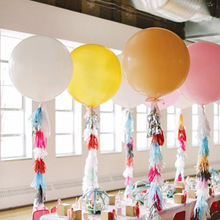 ( 36inch Balloon +Tassel Garland) Colorful Tissue Paper Tassels Party wedding decoration Garland Buntings Pompom Tassel