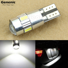 1 Pc New Car-Styling HID White CANBUS DC 12V T10 194 192 158 W5W 5630 6-SMD LED Bulbs Car Auto LED Bulb Lights Lamp