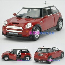 Candice guo! New arrival super cool 1:28 Mini Cooper S car alloy model car toy 1pc
