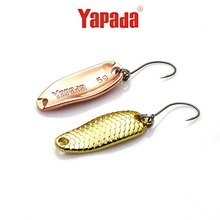 Yapada 6Pcs/lot 5g Loong Scale Metal Spoon Fishing Lure Spoon Sequin Paillette Hard Baits