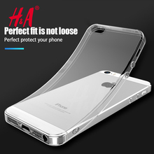 H&A Silicone Case For iPhone 5 5S SE Cover Transparent Phone Back Soft TPU Coque For iphone 5S SE Cases Protector Shell