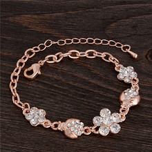 H:HYDE Jewelry Gold Color Beautiful Charming Crystal Fashion Womens Chain Bracelet Jewelry Many Style Picks Nice Shipping