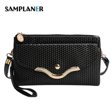 Alligator Women Clutch Bag Small Sequined Leather Ladies Handy Bags Phone Pouch Luxury Female Clutch Bag Womens Messenger Bags(China)