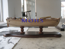 Wooden scale boat  sailing boat model wood scale model all ribs armed boat+5 bronze cannon scale assembly model building kits