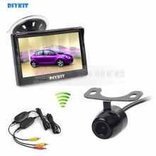 DIYKIT 5 inch LCD Display Rear View Car Monitor + Car Camera Wireless Parking Security System Kit(China)