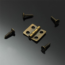10pcs Antique Brass Vintage Jewelry Gift Wine Wood Wooden Box Hinge With Screws