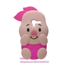 Soft Silicone Phone Cover Case For Alcatel One Touch Pixi 3 4.5inch 4027 5017 3D Cute Cartoon Rose Red Big Ears Pig