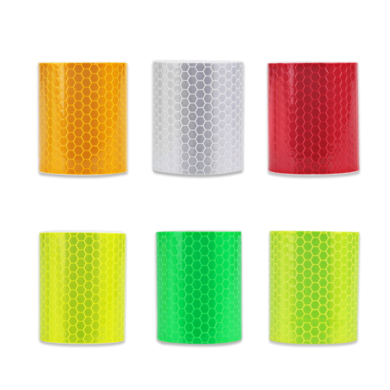 2pcs 5cmx3m  Safety Mark Reflective Tape Sticker Car Self Adhesive Warning Strip